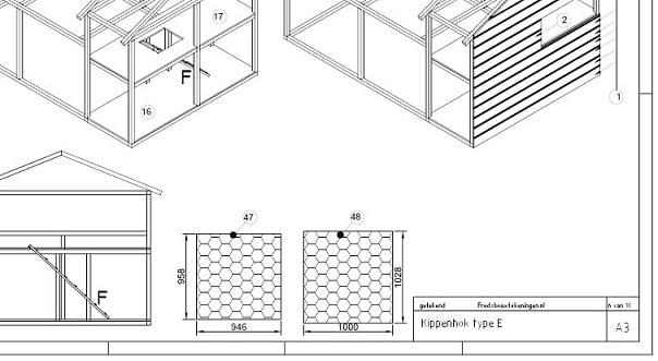 kippengids voorbeeld bouwtekening